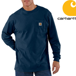 Carhartt Long-Sleeve Workwear Shirt - Navy&nbsp;&nbsp;Model#&nbsp;K126