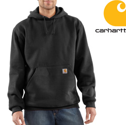 Carhartt Heavyweight Hooded Sweatshirt - Black&nbsp;&nbsp;Model#&nbsp;K184