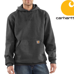 Carhartt Heavyweight Hooded Sweatshirt - Heather Gray&nbsp;&nbsp;Model#&nbsp;K184