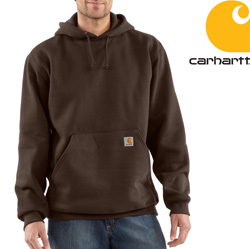 Carhartt Heavyweight Hooded Sweatshirt - Dark Brown&nbsp;&nbsp;Model#&nbsp;K184