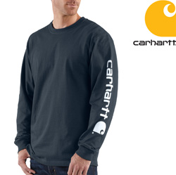Carhartt� Long Sleeve Graphic Shirt - Blue  Model# K231