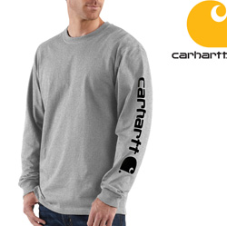 Carhartt� Long Sleeve Graphic Shirt - Gray  Model# K231