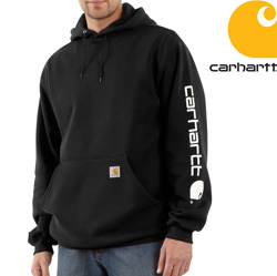 Carhartt Midweight Hooded Sweatshirt - Black&nbsp;&nbsp;Model#&nbsp;K288