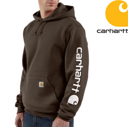 Carhartt Midweight Hooded Sweatshirt - Brown&nbsp;&nbsp;Model#&nbsp;K288