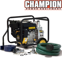 Champion® 2 Inch Semi-Trash Pump With Hose Kit  Model# 65525