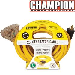 Champion 25 ft. Generator Cord&nbsp;&nbsp;Model#&nbsp;48036