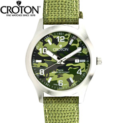 Croton® Green Camo Watch  Model# CA301234LGGR
