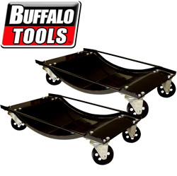 1,000 Pound Steel 2 Piece Car Dolly Set  Model# CDOLLY