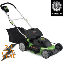 20 Inch 24V Cordless Mower&nbsp;&nbsp;Model#&nbsp;SP-PM207DC