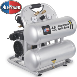 Quiet Zone Twin Tank Air Compressor  Model# APC-4406