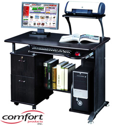 Rothmin Computer Desk with Storage Cabinet  Model# 50-1005