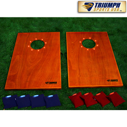 LED Tournament Bag Toss. Solid Wood!  Model# 35-7052