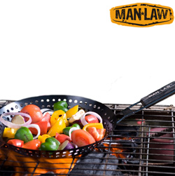 BBQ Non-Stick Skillet Basket&nbsp;&nbsp;Model#&nbsp;MANH3