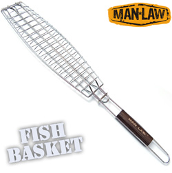 BBQ Single Fish Basket  Model# MANV2