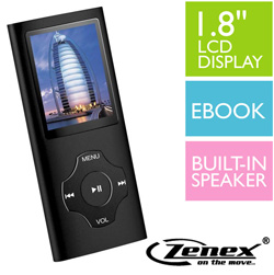 4GB MP4 Player - Narrow  Model# MP-5558-4BK