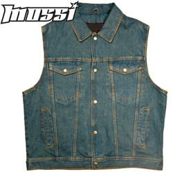 Mossi Men's Denim Biker Vest&nbsp;&nbsp;Model#&nbsp;20-108D-38