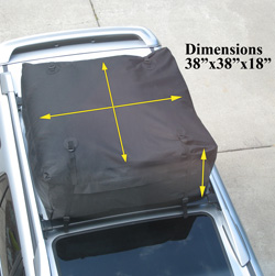 Advantage SportsRack Soft Top Weather Resistant Roof Top Cargo Bag  Model# 3020