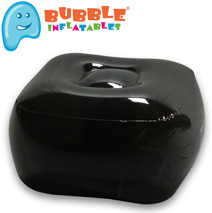 Bubble Inflatables Ottoman  Model# 24003-BK