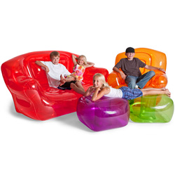 Bubble Inflatables Ottoman  Model# 24003-OR