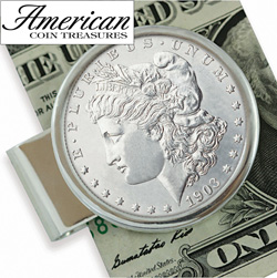 Sterling Silver Morgan Dollar Moneyclip  Model# 11433