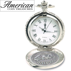 Seated Liberty Silver Half Dollar Pocket Watch&nbsp;&nbsp;Model#&nbsp;11452