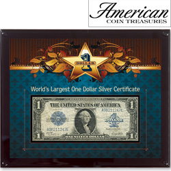 World's Largest Silver Certificate  Model# 11293