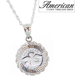 Sterling Silver Guardian Angel Pendant  Model# 11436