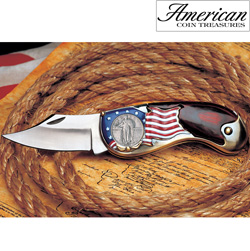 Standing Liberty Silver Quarter Pocket Knife  Model# 11453