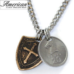 Horse and Shield Men's Necklace  Model# 11354