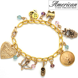 Angel Coin Baby Charm Bracelet  Model# 11371