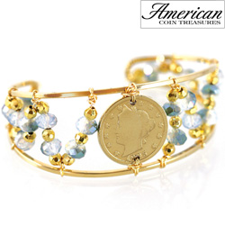 Liberty Nickel Bead Cuff Bracelet  Model# 11374