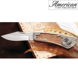 2005 Westward Journey Bison Nickel Pocket Knife  Model# 11215