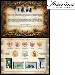 Civil War Coin... Stamp Collection  Model# 11228