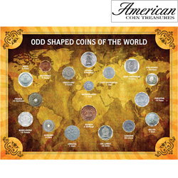 Odd Shaped Coins of the World&nbsp;&nbsp;Model#&nbsp;11279