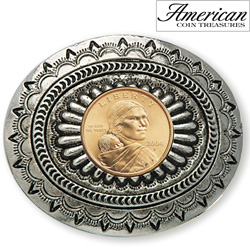 Sacagawea Golden Dollar Belt Buckle&nbsp;&nbsp;Model#&nbsp;11322