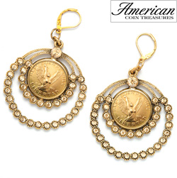 Angel Coin Crystal Chandelier Earrings  Model# 11446