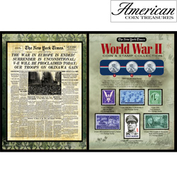 The New York Times World War II Coin... Stamp Collection  Model# 50006