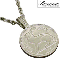 Lucky Rabbit Coin Pendant  Model# 11187