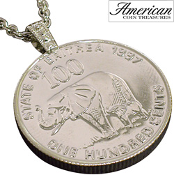Lucky Elephant Coin Pendant  Model# 11189