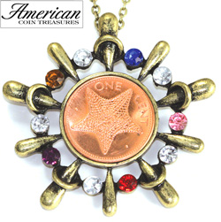 Starfish Multi-Stone Pendant  Model# 11286