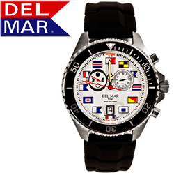Men's 200M Analog Tide Nautical Dial Rubber Band  Model# 50129