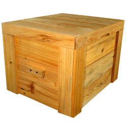 27 Qt. Natural Deck Box  Model# Deck 101
