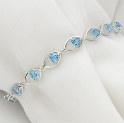 Blue 6mm Gemstone Bracelet&nbsp;&nbsp;Model#&nbsp;JB589-BT