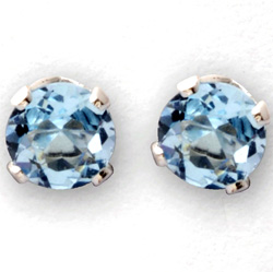Blue Topaz Stud Earrings&nbsp;&nbsp;Model#&nbsp;JE649-BT