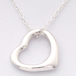 Sterling Silver Floating Heart Necklace  Model# JN151