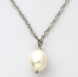 Sterling Silver Tear Drop Necklace&nbsp;&nbsp;Model#&nbsp;JN970