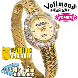 Vollmond® 10 Diamond Womens Watch  Model# HTL001D10