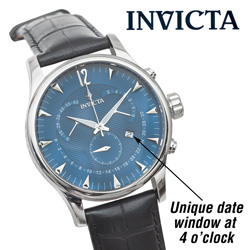 Invicta Vintage Chronograph Watch - Blue  Model# 11236