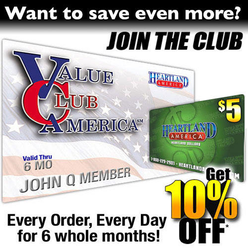 6 Month Value Club Membership with FREE* $20 Heartland Dollars
