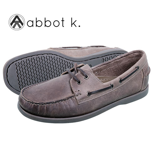 These Abbot K Boardwalk boat shoes are crafted from genuine leather and feature lace-up styling that provides the custom fit you're looking for. Also features moc toe, leather footbed, rubber midsole and flexible rubber outsole for sure footing on wet and dry surfaces. Color: Grey. Mens size 9.